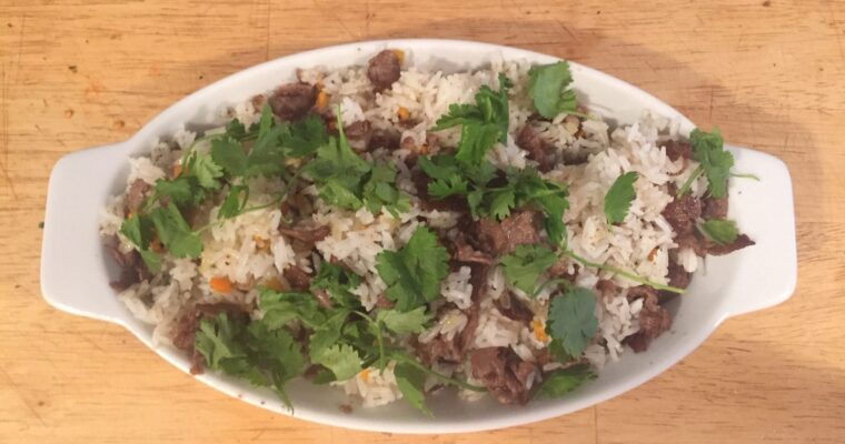 Za'atar Rice with Crispy Beef
